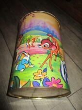 Walt Disney Bambi-Ancienne baril lessive en tole -Marque Skip-Années 70-