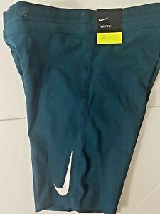 Nike Aeroswift Tight 1/2 Half Running Short Green Men AR3246-347 10 msrp $80