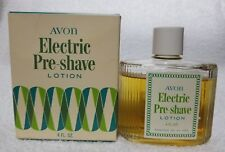 Avon ELECTRIC Pre-Shave Lotion Softens Beard Men Vintage 4 oz Used 90% Full
