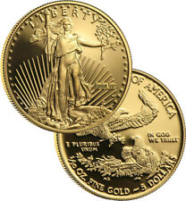 Random Year $5 1/10th oz Proof Gold American Eagle Box & COA
