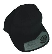 Plain Black Flexfit Wool Blend Flat Bill Snapback - 110F