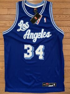 Nike Authentic HWC Jersey LA Los Angeles Lakers Shaquille O'Neal 48 New Tags