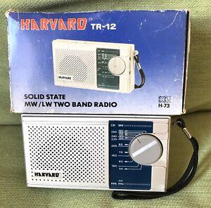 VINTAGE HARVARD TR-12  MW/LW PORTABLE BATTERY RADIO