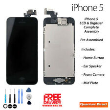 NEW iPhone 5 Retina LCD & Digitiser Touch Screen Assembly with Parts - BLACK