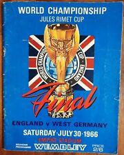 More details for england v west germany 1966  world cup final souvenir programme