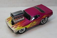 Muscle Machines 70 Cuda Pink With Flames Hemi 1:18 Funline