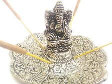 Metal Elephant silver incense holder FREE Nag Champa cones or sticks ash catcher
