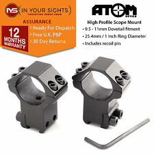 9.5-11mm Dovetail rifle scope mounts/ 25mm High-profile airgun sight rings
