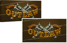 Australia Outlaw Ned Kelly Guns Bar Limited Edition Canvas Print by Peter Jantke
