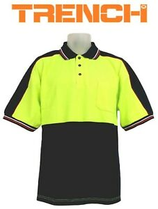 Hi-Vis Cotton Back Two Tone Polo Short Sleeve  With Sleeve Panel
