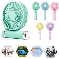 Mini Portable Fan Air Cooler Foldable Handheld USB Rechargable LED 18650 Battery