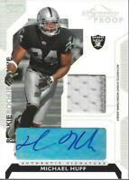 2006 Playoff NFL Playoffs Jersey Signature Proofs Silver Michael Huff Auto /75