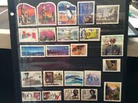 CANADA Lot of 108 recent stamps 50 cents to 59 cents era