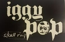 Iggy Pop 'Skull Ring' Promo Sticker 2003