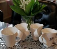 Set of 4 Villeroy & Boch NEW WAVE  10 oz Coffee Cup Mugs Fine China