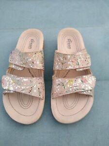 Fly flot dream sandals beige multi colour size 39 UK 6