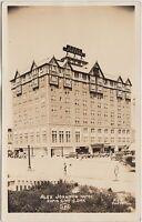 South Dakota SD Real Photo RPPC Postcard 1947 RAPID CITY Alex Johnson Hotel