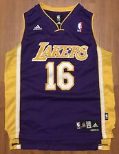Authentic Adidas Pau Gasol Los Angeles Lakers Swingman Away NBA Jersey M