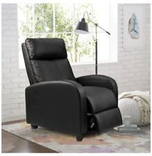 Manual Recliner Chair Swivel Rocker Recliner Leather Overstuffed Padded Sofa