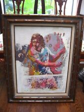Rare Vintage 1970s Original KEE FUNG NG Signed Oil / Acrylic Male Tennis Player