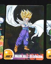 DRAGON BALL Z GT DBZ MORINAGA WAFER CARD CARDDASS PRISM CARTE 007 3D MADE JAPAN