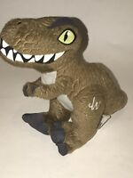 "Hasbro JURASSIC WORLD 8"" Stuffed Animal Dinosaur Plush T-REX Olive Green 2014"