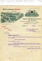 Dépt 21 & Paris V ème - Dijon - Belle Entête Encres & Produits Chimiques de 1924