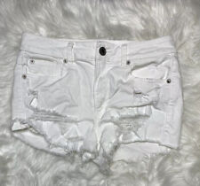 American Eagle Outfitters White HiRise Shorties Lace Pockets Size 10