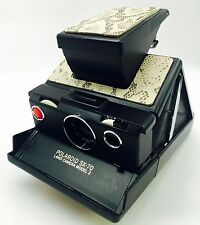 "Polaroid SX-70 Townsend Natural ""Cobra"" Embossed Cowhide PolaSkinz Skinz SLR680"