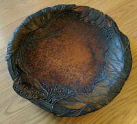 Antique Flemish Art Wood Carved Bowl Art Nouveau as is