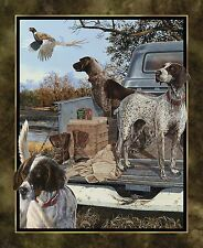 Wild Wings Dogs Days panel 100% cotton fabric panel