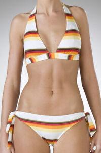 Roxy Happy Travel White Halter Bikini.