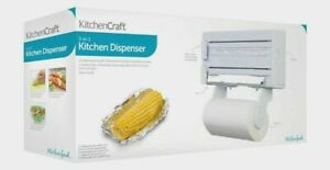 Kitchen Craft Wall Mounted Kitchen Roll Towel, Tin Foil & Cling Film Dispenser