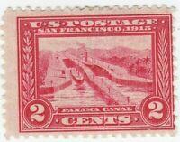 Scott #398 - 2c Carmine - Panama Canal -Mint, Hinged- SCV - $18.00