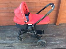 Graco Evo Travel System Chilli Red Baby Stroller Carry Cot. Collect Swanley Kent