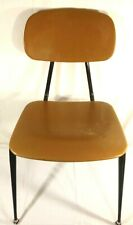 A Vintage School Student Chair By Irwin Seating Co Michigan Gold - Brown USA MCM