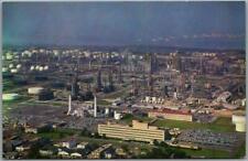 Baton Rouge, Louisiana Postcard Aerial View BATON ROUGE REFINERY Humble Oil Co.
