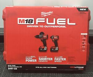 Milwaukee M18 Fuel 2997-22 2-Tool Combo Kit NEW