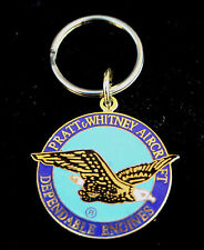PRATT & WHITNEY KEYCHAIN GIFT DEPENDABLE ENGINE PIN UP EAGLE AIRCRAFT EAGLE WOW
