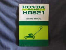 Honda HRS21 Rotory Mower Rare Owners Manual HRS 21 Lawnmower