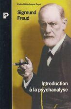 INTRODUCTION A LA PSYCHANALYSE / SIGMUND FREUD/ PAYOT