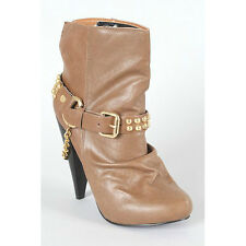 Hot Fashion Maquis 02 Womens Motorcycle Studded western ankle boots nib chestnut