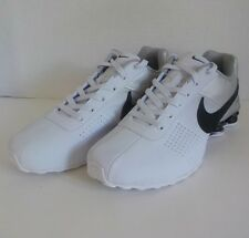 Nike SHOX DELIVER Running Shoes WHITE SILVER BLACK 317547 Men Size 12