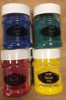 Teñido Arena Shaker Bote Arte Manualidades Decorativo Colores 200g Terrario