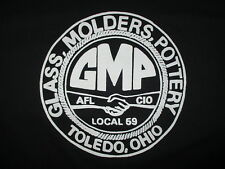 GLASS MOLDERS POTTERY UNION T SHIRT Local 59 Toledo vtg Pocket Tee Artisan XL