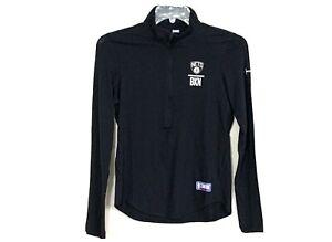 Small Brooklyn Nets Combine Shirt 1/4 Zip Black Womens UA Under Armour NEW