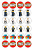 Lego edible Image cupcake topper real icing sheet 24 x 4cm #10612