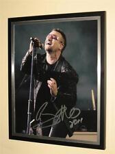 "U2 - ""BONO"" - HAND SIGNED  8 X 10 COLOUR PHOTO - FRAME NOT INCLUDED"