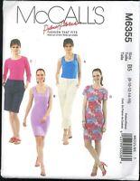 Misses Top Dress Pattern Size 8 10 12 14 16 McCall's 6355 Palmer / Pletsch Uncut
