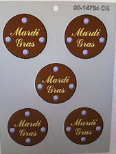 NEW MARDI GRAS MEDALLION PIECES  mold candy chocolate molds